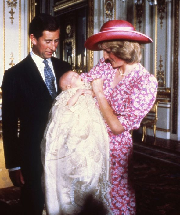 Charles and Diana at William's funeral
