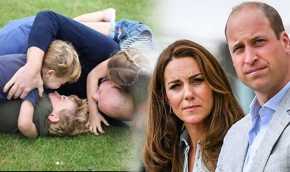 Kate Middleton, William and their children