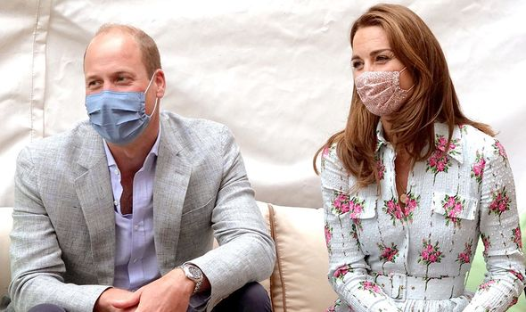 Prince William and Kate Middleton mask