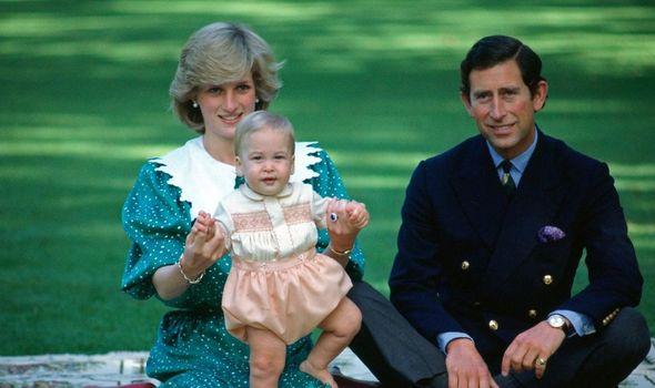 Prince William title: Princess Diana, Prince William and Prince Charles