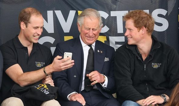 Prince William title: Prince William, Prince Charles and Prince Harry
