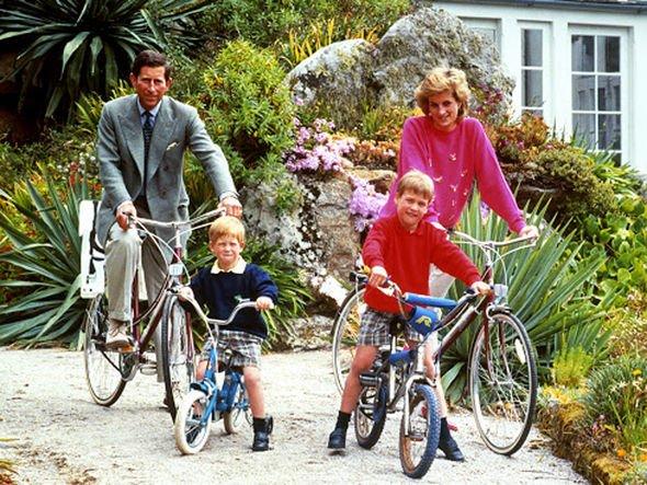 Prince William tribute: Prince Charles, Prince Harry, Prince William and Princess Diana