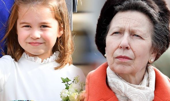 Princess Anne and Princess Charlotte