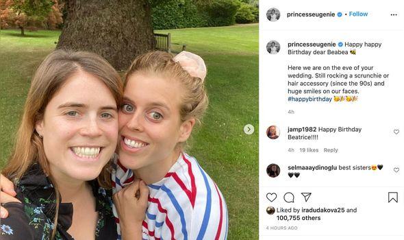 Princess Beatrice birthday: Eugenie birthday post