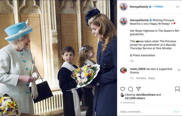 Princess Beatrice birthday: Instagram post from Queen