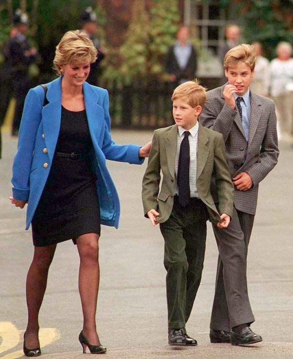 Princess Diana, Harry and William