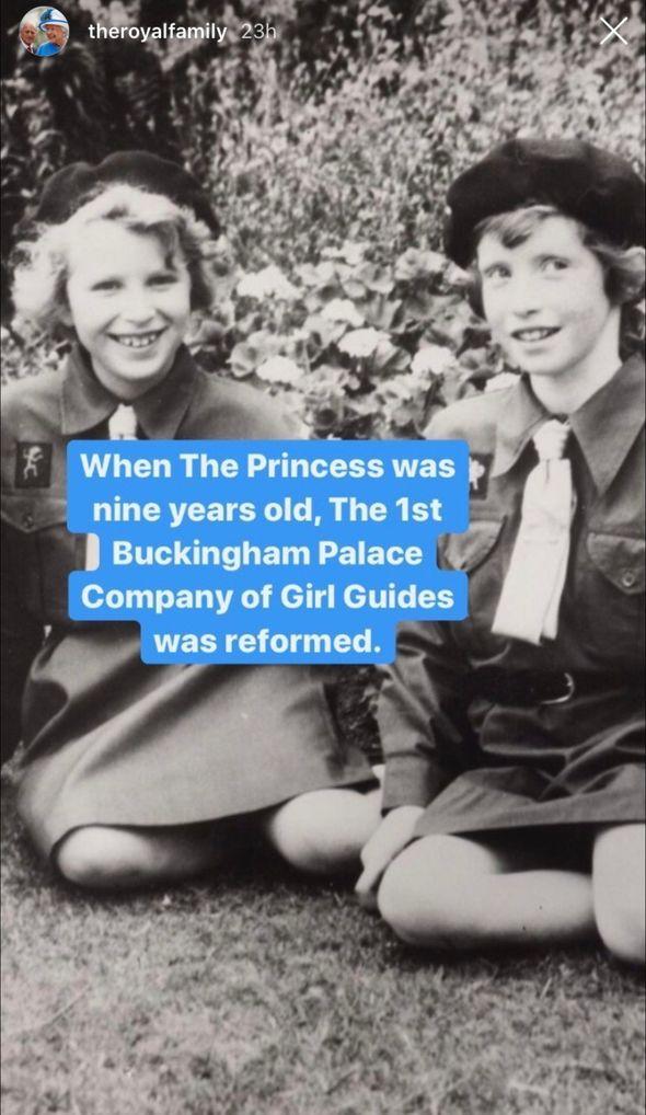 Royal celebration: Princess Anne as a child