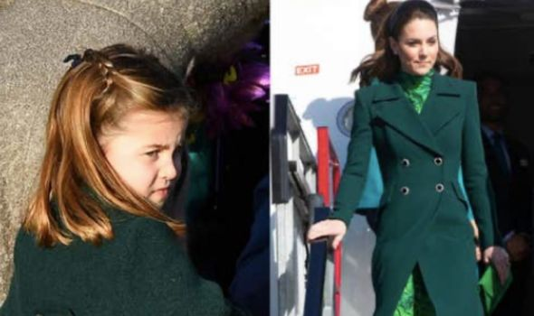 Royal family: Charlotte on Christmas Day 2019 and Kate landing in Dublin last year