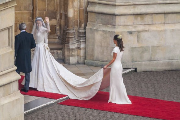 Royal wedding 2011: Pippa hit headlines with her elegant dress during Kate and William's wedding