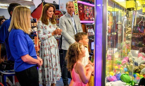 kate middleton news prince william barry island arcade