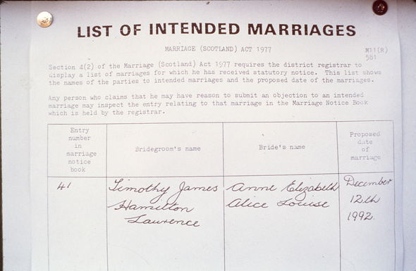 Princess Anne marriage: Anne and Timothy wedding intention