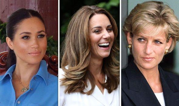 Meghan Markle, Kate Middleton and Princess Diana