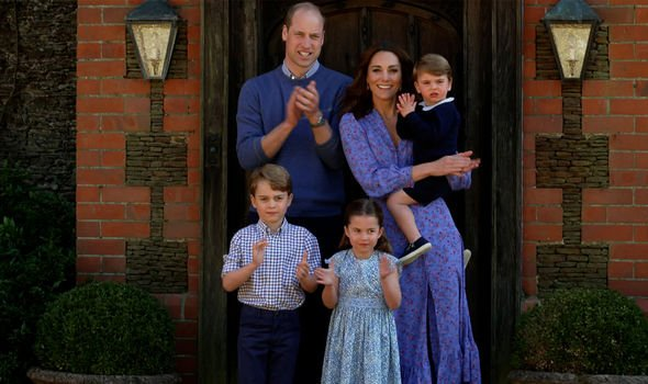 Kate with her family in Norfolk during lockdown