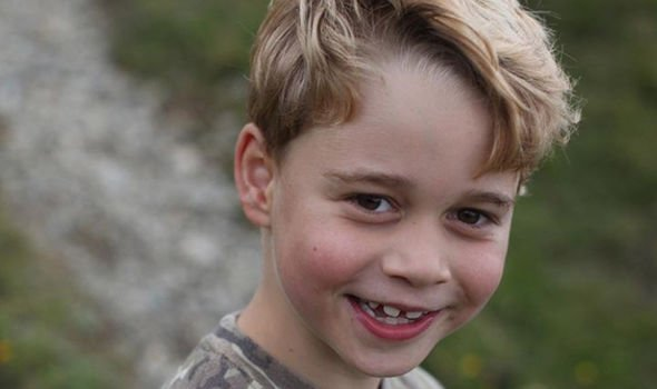 Prince George, in a photograph taken by Kate for his seventh birthday