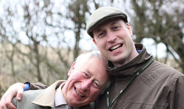 Prince Charles and Prince William in a photograph released by Kate Middleton