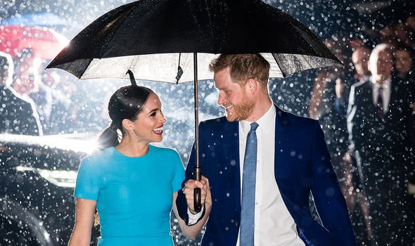 The Duke and Duchess of Sussex during one of their last royal engagements back in March