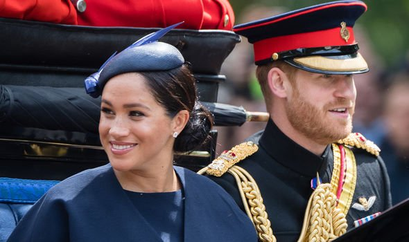 Meghan and Harry at Trooping the Colour in 2019