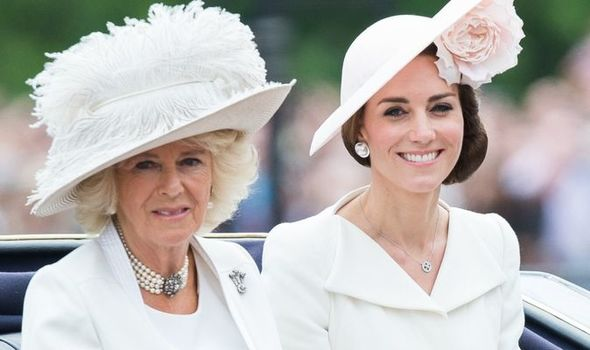 Kate Middleton and Camilla Duchess of Cornwall at royal event