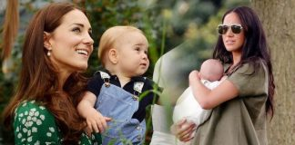 Kate Middleton and Meghan Markle holding babies