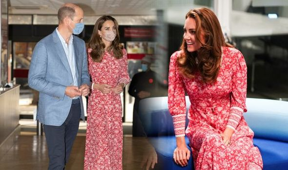 Kate Middleton and Prince William today in London