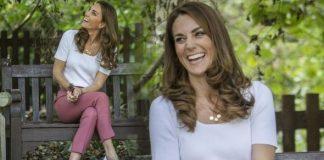 Kate Middleton sitting down