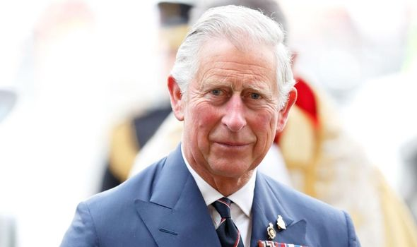 Prince Charles at VE Day event