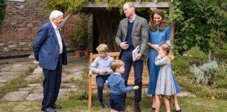 Prince George Princess Charlotte Prince Louis David Attenborough