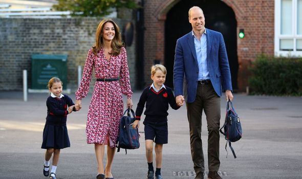 Prince George and Princess Charlotte attend school