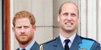 Prince Harry and Prince William on balcony at Buckingham Palace