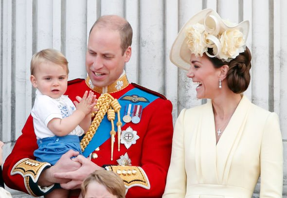 Prince Louis title shock: Prince Louis, Prince William and Kate, Duchess of Cambridge