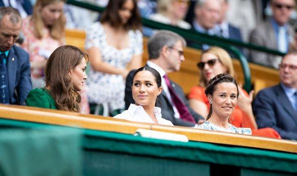 Wimbeldon: Kate, Pippa and Meghan Markle pictured at Wimbledon, 2019