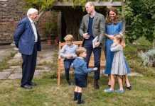 prince george prince louis princess charlotte pictures david attenborough