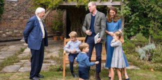 prince george prince louis princess charlotte pictures david attenborough