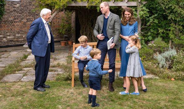princess charlotte prince george david attenborough