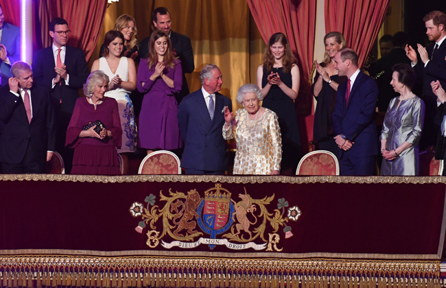 royals celebrate the queen birthday party