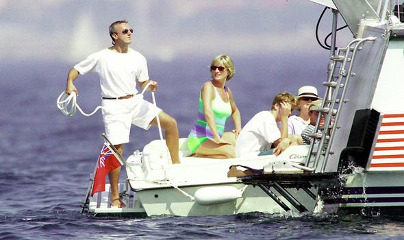 Diana on Fayed's yacht, where Dodi would later join her
