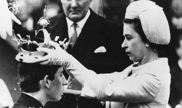 Prince Charles during his investiture as the Prince of Wales in 1969