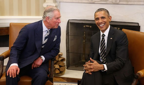 Prince Charles meeting Obama in 2015 at the Oval Office