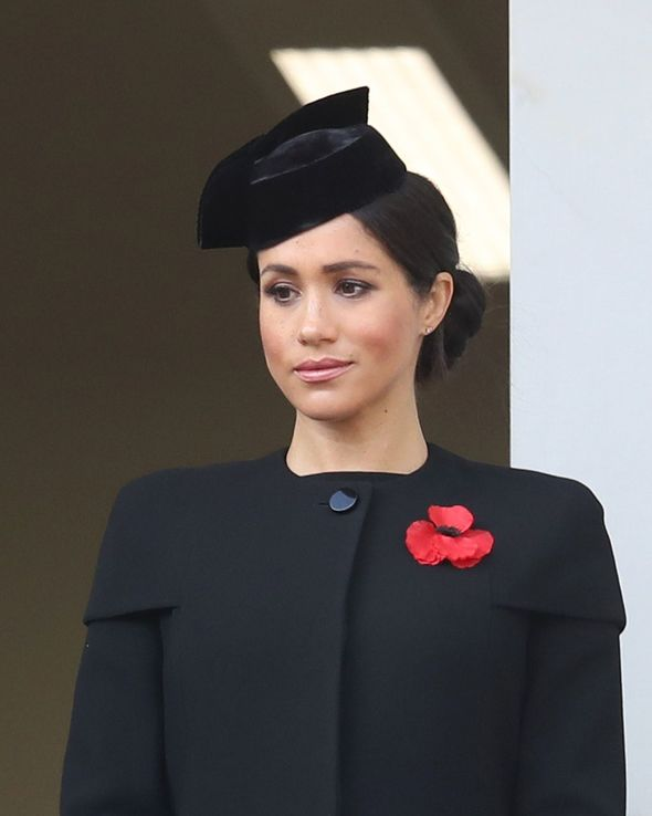 For Remembrance Day in 2018, Meghan also wore a stylish Stella McCartney black coat