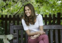 Kate Middleton on a bench