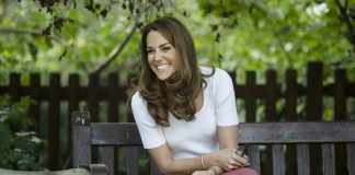 Kate Middleton on a bench
