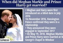 Meghan Markle and Prince Harry wedding fact box