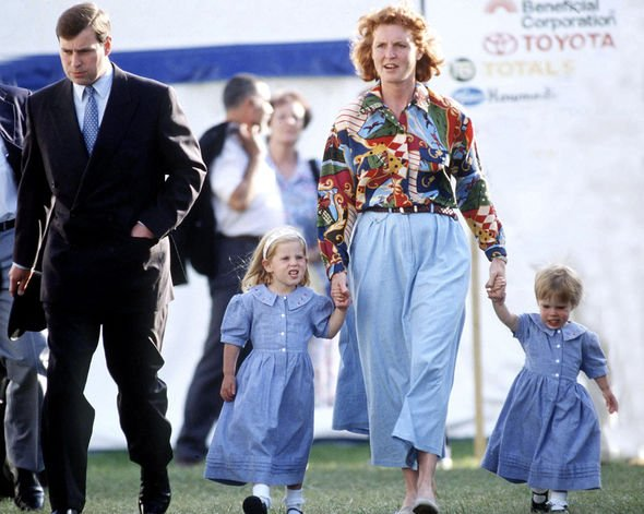 Prince Andrew and Sarah Ferguson with daughters