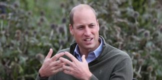 Prince William sat outside