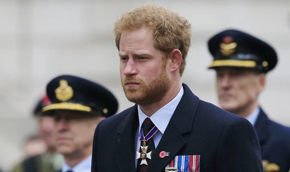 Prince Harry news: The Duke of Sussex at Remembrance Day 2016