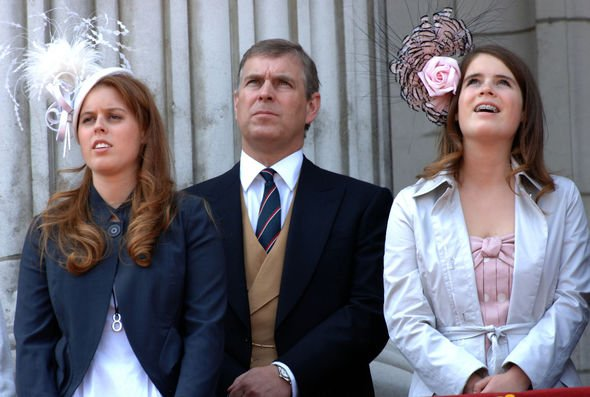 Princesses Beatrice and Eugenie with dad Andrew