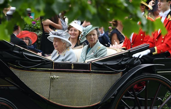 The Queen: Her Majesty and her daughter Anne