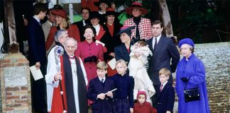 The royals at Eugenies christening in Photo C GETTY IMAGES