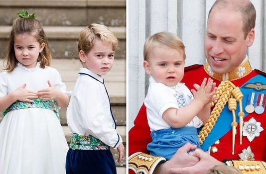 Prince Louis title: Prince George and Charlotte