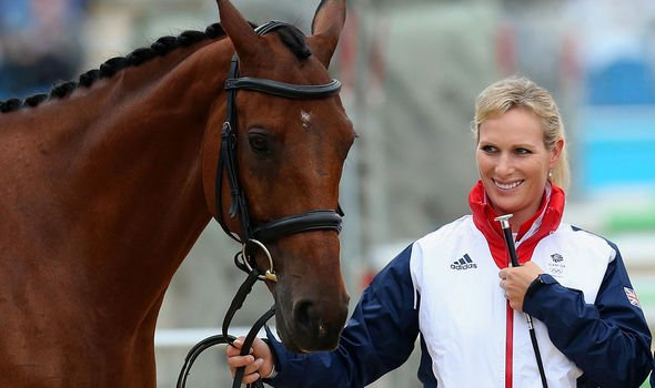 Princess Eugenie news: Zara Tindall with one of her horses